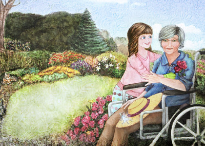 In a Wheelchair from Weeds in Nana's Garden