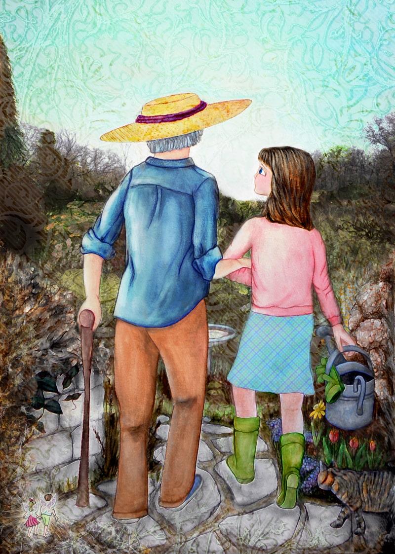 Children's Book : Weeds in Nana's Garden